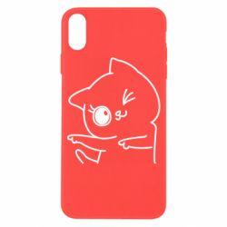 Чехол для iPhone X/Xs Cheerful kitten
