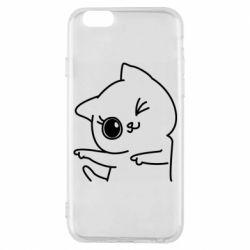 Чехол для iPhone 6/6S Cheerful kitten