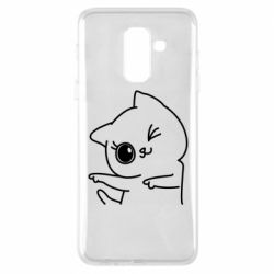 Чехол для Samsung A6+ 2018 Cheerful kitten