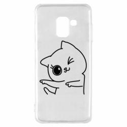 Чехол для Samsung A8 2018 Cheerful kitten