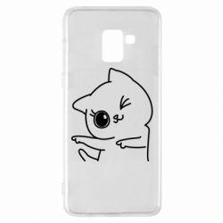 Чехол для Samsung A8+ 2018 Cheerful kitten