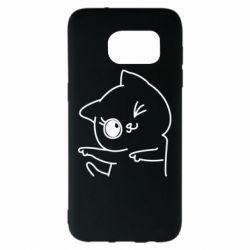 Чехол для Samsung S7 EDGE Cheerful kitten