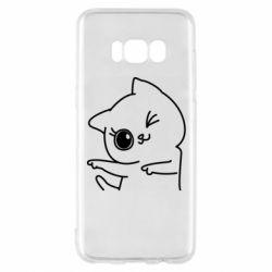 Чехол для Samsung S8 Cheerful kitten