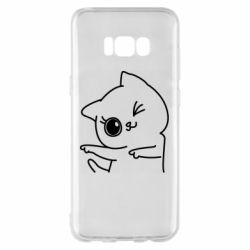 Чехол для Samsung S8+ Cheerful kitten