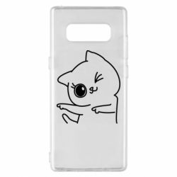 Чехол для Samsung Note 8 Cheerful kitten