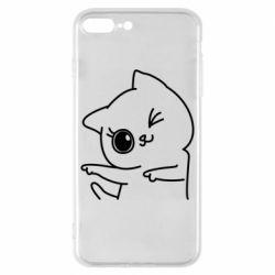 Чехол для iPhone 8 Plus Cheerful kitten