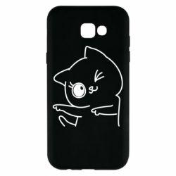 Чехол для Samsung A7 2017 Cheerful kitten