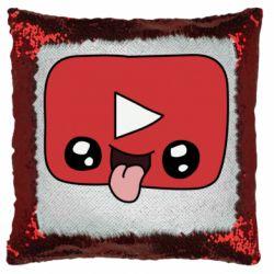 Подушка-хамелеон Cheerful YouTube