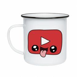 Кружка емальована Cheerful YouTube