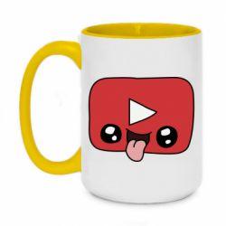 Кружка двоколірна 420ml Cheerful YouTube