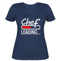 Женская футболка Chef loading