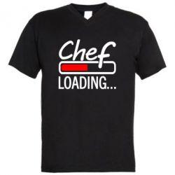 Мужская футболка  с V-образным вырезом Chef loading
