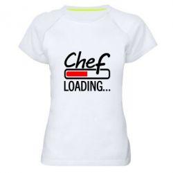 Женская спортивная футболка Chef loading