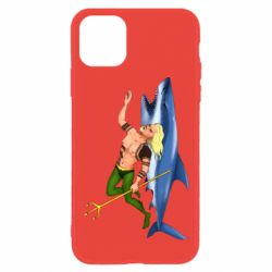 Чехол для iPhone 11 Aquaman with a shark