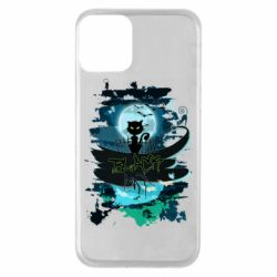 Чехол для iPhone 11 Black cat art