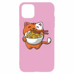 Чохол для iPhone 11 Cat and Ramen