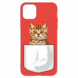 Чехол для iPhone 11 Cat in your pocket
