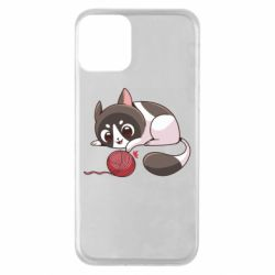 Чохол для iPhone 11 Cat with a ball
