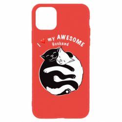 Чехол для iPhone 11 Cats and love