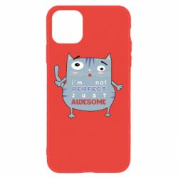 Чехол для iPhone 11 Cute cat and text