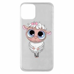 Чехол для iPhone 11 Cute lamb with big eyes