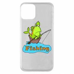Чехол для iPhone 11 Fish Fishing
