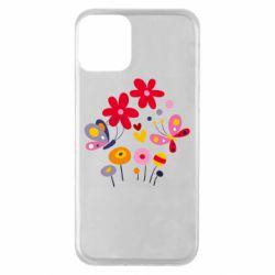 Чехол для iPhone 11 Flowers and Butterflies