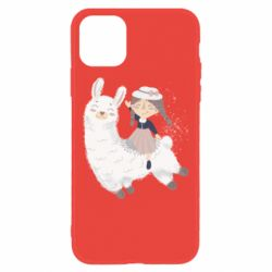 Чохол для iPhone 11 Girl with a lama