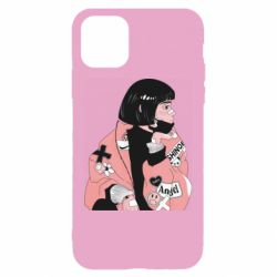 Чехол для iPhone 11 Girl with a square