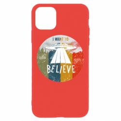 Чехол для iPhone 11 I want to believe text