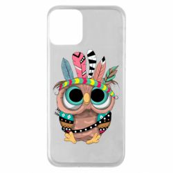 Чохол для iPhone 11 Little owl with feathers
