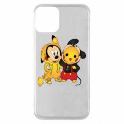 Чехол для iPhone 11 Mickey and Pikachu