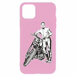 Чехол для iPhone 11 Mickey Rourke and the motorcycle
