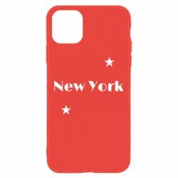 Чехол для iPhone 11 New York and stars