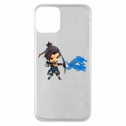 Чехол для iPhone 11 Overwatch Hanzo Chibi