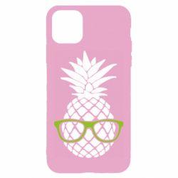 Чехол для iPhone 11 Pineapple with glasses