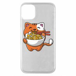 Чохол для iPhone 11 Pro Cat and Ramen
