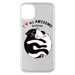 Чехол для iPhone 11 Pro Cats and love