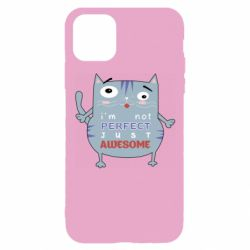 Чехол для iPhone 11 Pro Cute cat and text