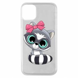 Чехол для iPhone 11 Pro Cute raccoon