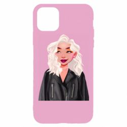 Чохол для iPhone 11 Pro Girl in a leather jacket