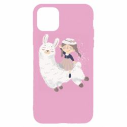 Чохол для iPhone 11 Pro Girl with a lama