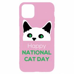Чехол для iPhone 11 Pro Happy National Cat Day