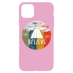 Чехол для iPhone 11 Pro I want to believe text