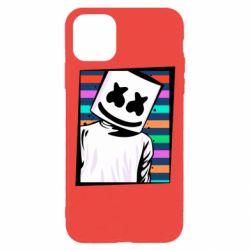 Чехол для iPhone 11 Pro Marshmello Colorful Portrait