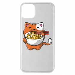 Чохол для iPhone 11 Pro Max Cat and Ramen