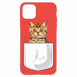 Чехол для iPhone 11 Pro Max Cat in your pocket