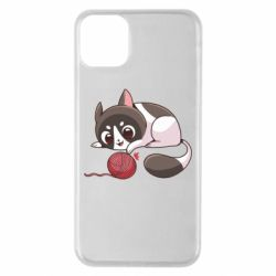 Чохол для iPhone 11 Pro Max Cat with a ball