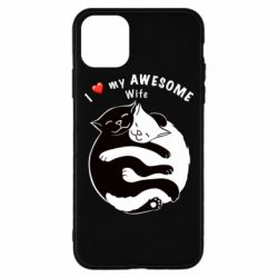 Чехол для iPhone 11 Pro Max Cats with a smile