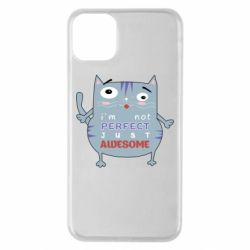 Чехол для iPhone 11 Pro Max Cute cat and text
